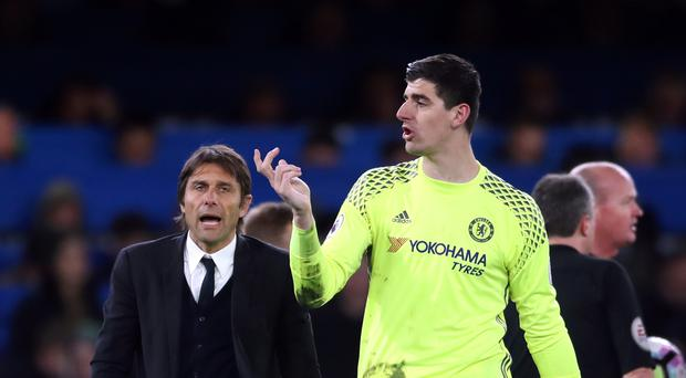 Head coach Antonio Conte says Chelsea have the best goalkeeper in the world in Thibaut Courtois