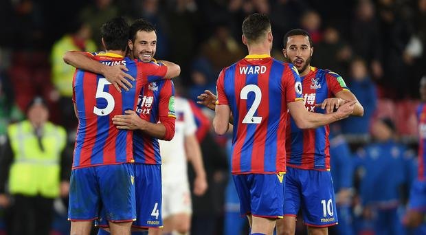 Palace celebrated a come-from-behind win over Stoke