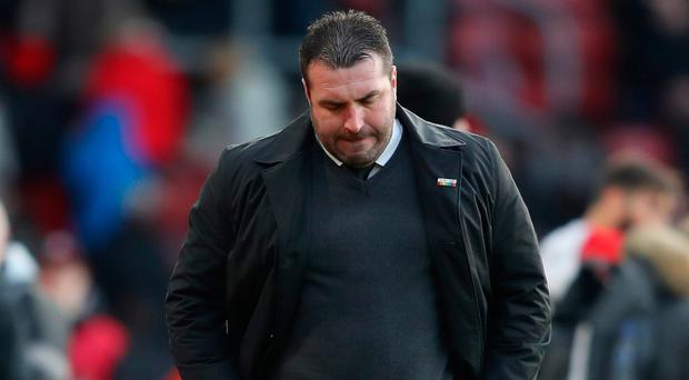 Tough spot : David Unsworth has been in caretaker role