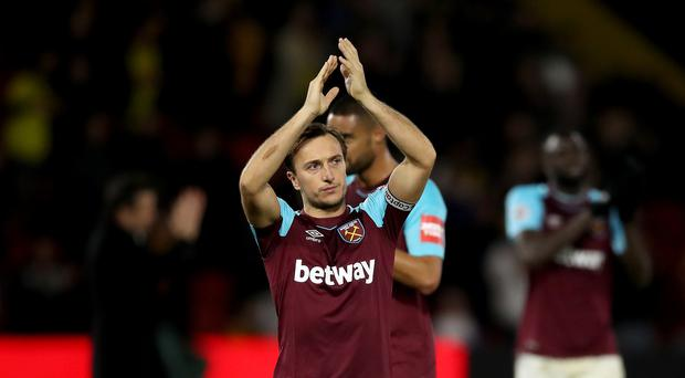 Mark Noble was left out when West Ham faced Leicester