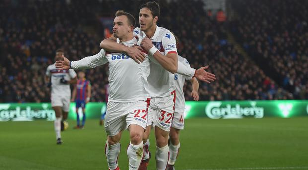 Stoke's Xherdan Shaqiri has been in fine form