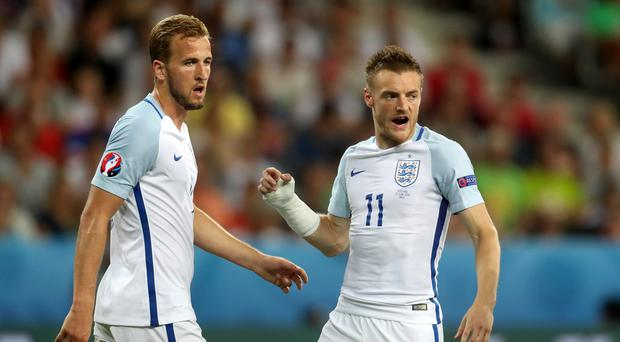 Harry Kane and Jamie Vardy have been backed to form an international partnership