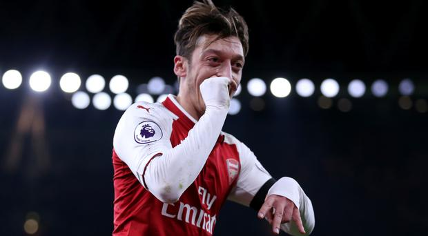 Mesut Ozil enjoyed a productive night at the Emirates