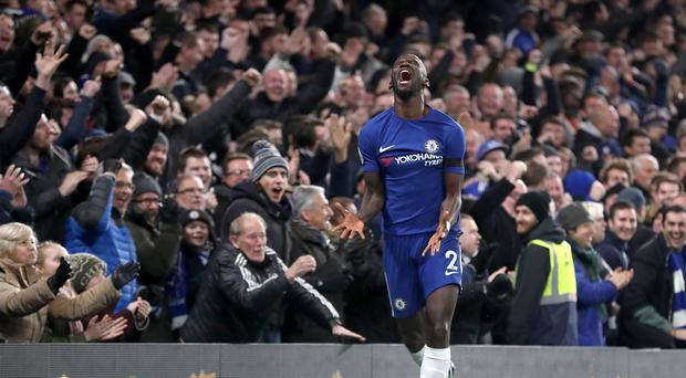 Antonio Rudiger celebrates the winner