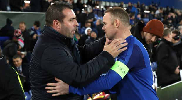 Wayne Rooney, right, praised David Unsworth after the win over West Ham