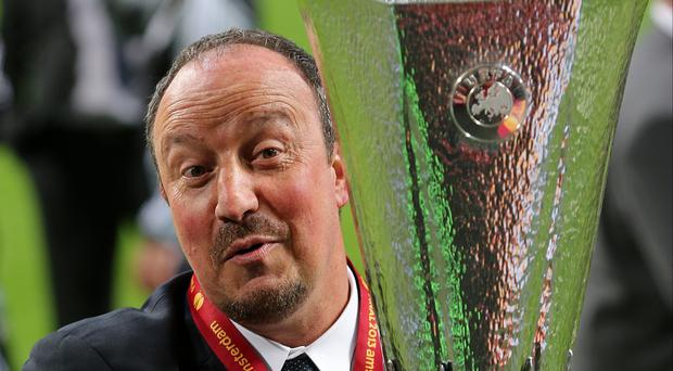 Rafael Benitez (pictured), who led Chelsea to Europa League glory