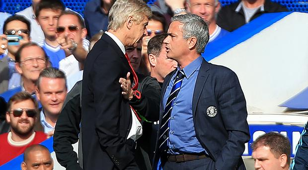 Arsene Wenger, left, ND Jose Mourinho have faced each other 13 times in the Premier League.