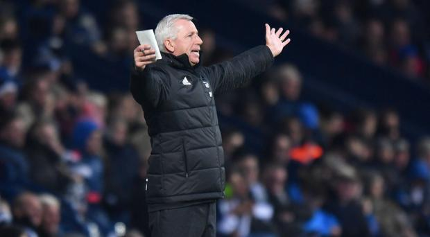 West Brom boss Alan Pardew took charge for the first time against Crystal Palace on Saturday
