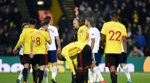 Davinson Sanchez's red card at Vicarage Road left Spurs with a mountain to climb