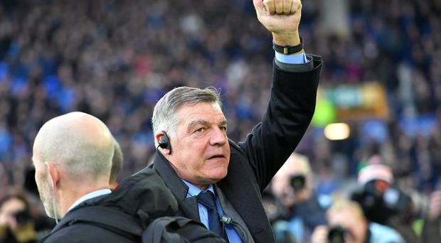 Everton manager Sam Allardyce enjoyed his first game in charge of Everton