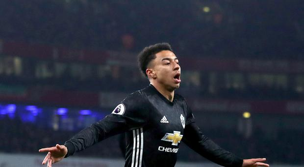Jesse Lingard scored twice against Arsenal
