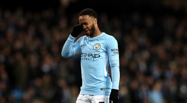 Manchester City's Raheem Sterling could not continue his scoring form against West Ham