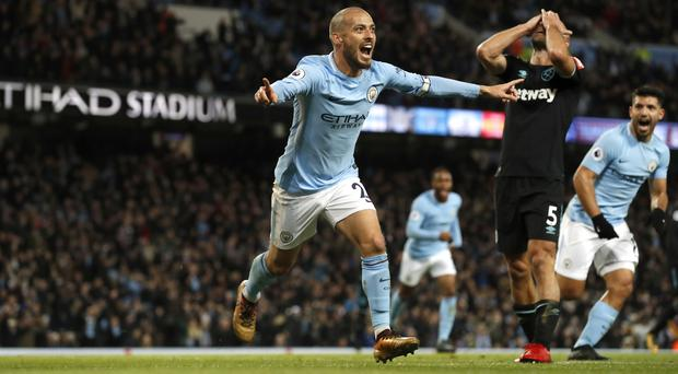 David Silva is doubtful for the Manchester derby