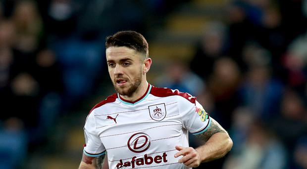 Burnley's Robbie Brady suffered a knee injury at Leicester and faces