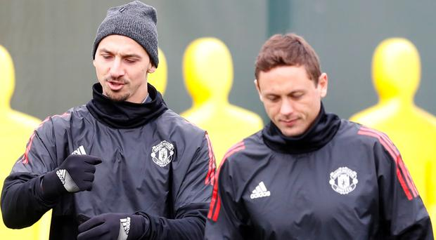 Zlatan Ibrahimovic and Nemanja Matic could feature in the Manchester derby on Sunday