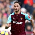 Marko Arnautovic scored his first goal for West Ham