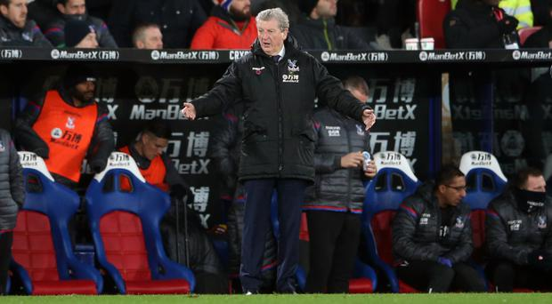 Roy Hodgson, pictured, was annoyed by Christian Benteke's penalty miss