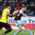 Scott Arfield scored Burnley's winner against Watford