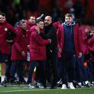 Manchester City celebrate at full-time