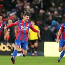 James McArthur celebrates the winning goal