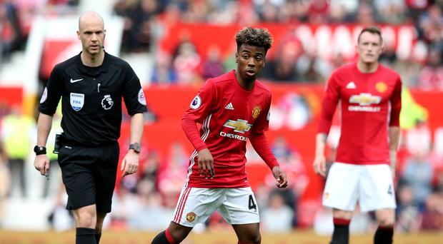Highly-rated youngster Angel Gomes has signed a professional contract with Manchester United