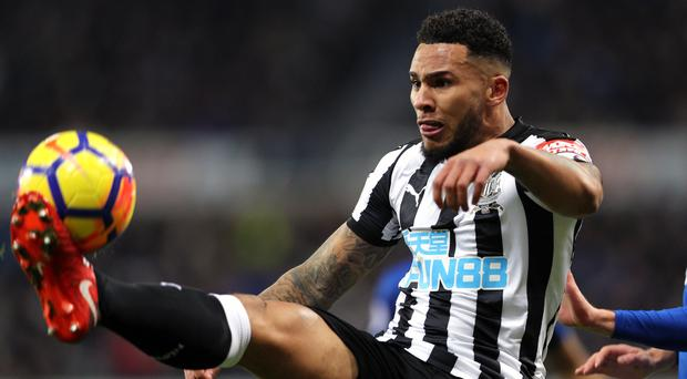 Jamaal Lascelles, left, does not believe Newcastle are in a relegation fight