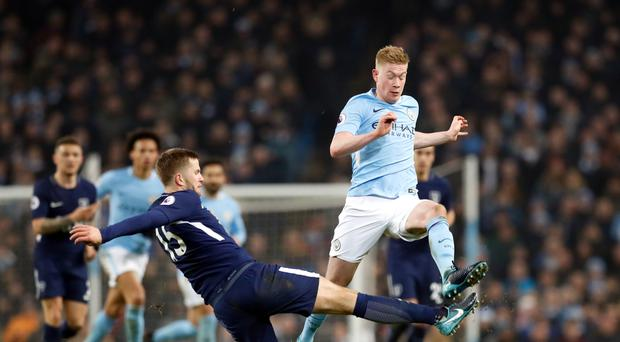 Kevin De Bruyne, right, was the key man for Manchester City