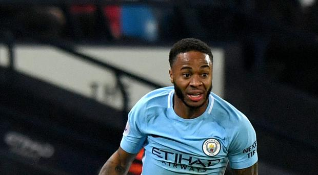 Raheem Sterling scored twice in Manchester City's 4-1 win over Tottenham