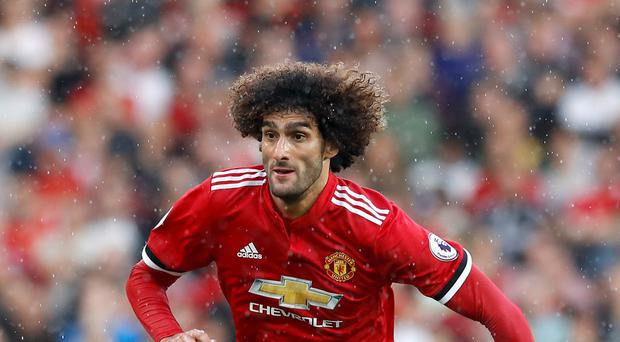 Jose Mourinho says Marouane Fellaini, pictured, will play no part in Manchester United's matches over Christmas