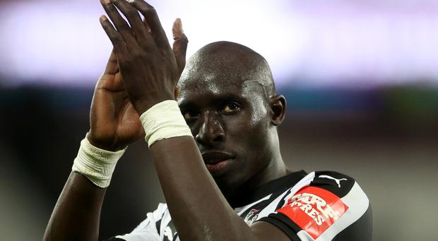 Mohamed Diame was on target for Newcastle against West Ham