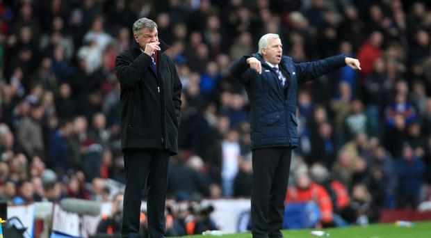 Alan Pardew and Sam Allardyce are set to go head-to-head again on Boxing Day