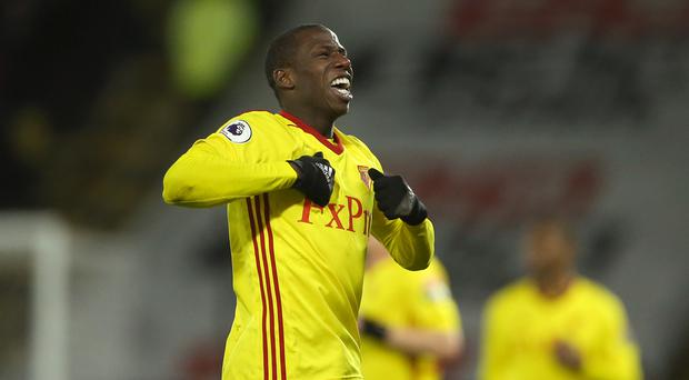 Watford's Abdoulaye Doucoure celebrates his team's winning goal