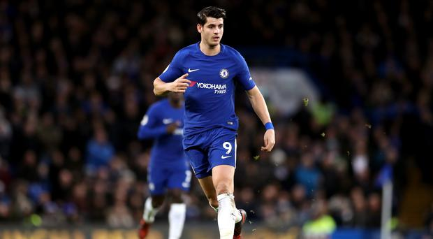 Alvaro Morata scored Chelsea's opener against Brighton