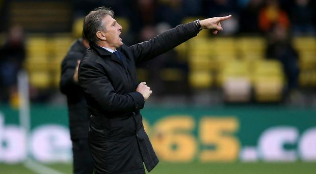Leicester manager Claude Puel saw his side edged out at Watford