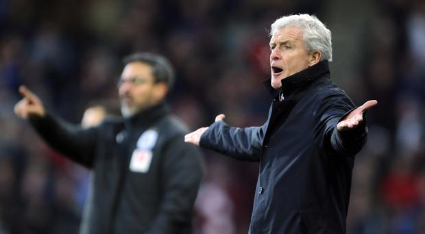 Mark Hughes and David Wagner disagreed on Huddersfield not getting a penalty