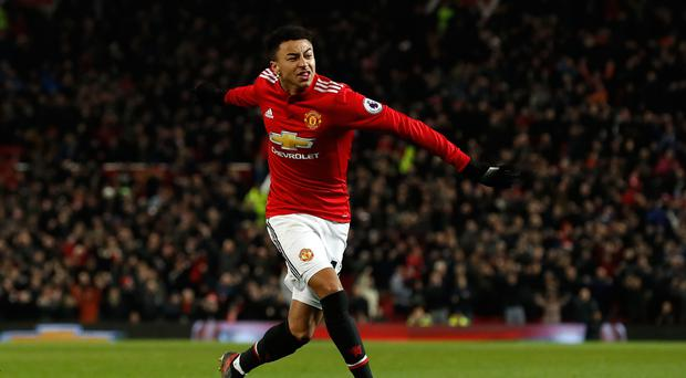 Jesse Lingard now has nine goals in all competitions for Manchester United this season
