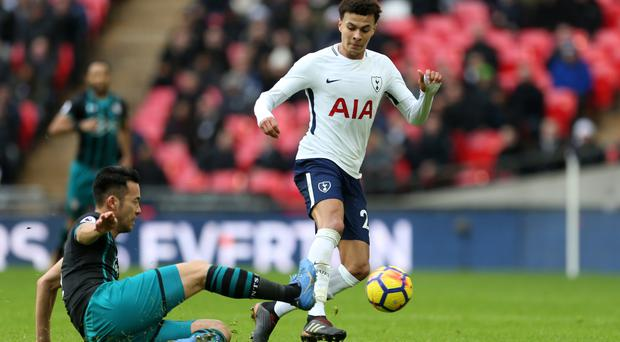 Maya Yoshida, left, and the rest of the Southampton defence were unable to keep Spurs at bay