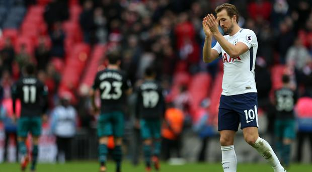 Tottenham forward Harry Kane would