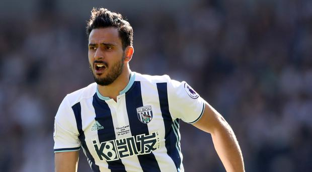 West Brom's Nacer Chadli has made just four appearances this season because of injury