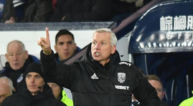 West Brom's manager Alan Pardew is yet to win in six games in charge.