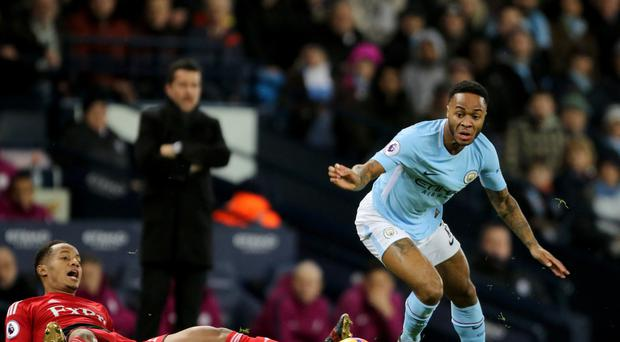 Raheem Sterling scored after 38 seconds for Manchester City against Watford