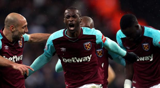 Pedro Obiang opened the scoring for West Ham