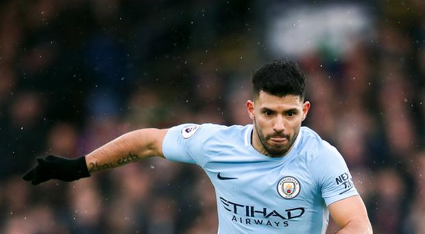 Sergio Aguero is Manchester City's only fit striker