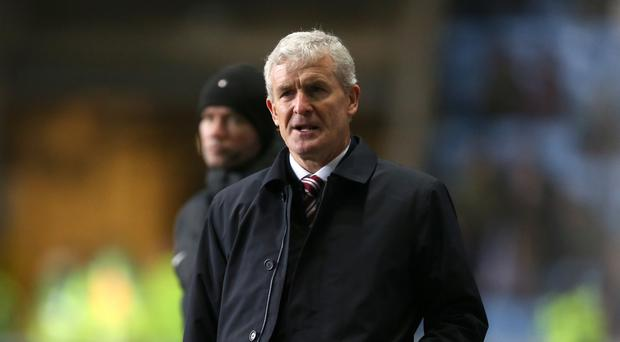 Stoke manager Mark Hughes was sacked after their FA Cup defeat at Coventry