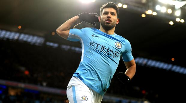 Sergio Aguero continues to plunder goals for Manchester City