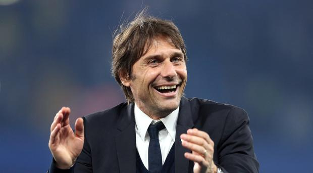 Chelsea head coach Antonio Conte was able to laugh off an incident which saw his car damaged during high winds earlier this month