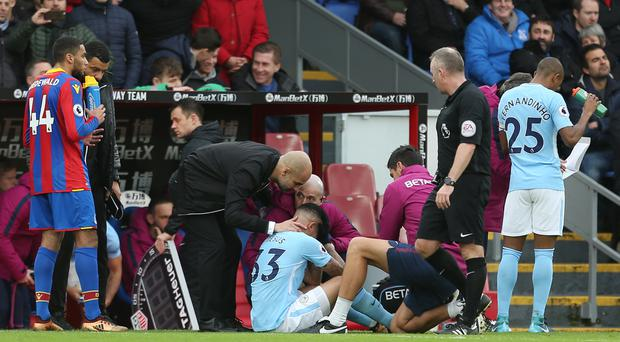 Gabriel Jesus suffered medial-ligament damage against Crystal Palace on New Year's Eve