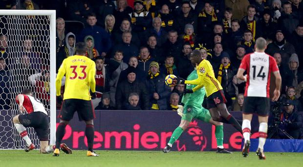 Abdoulaye Doucoure scores Watford's controversial equaliser