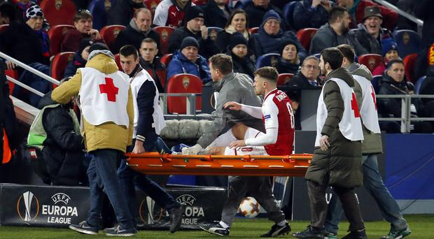Aaron Ramsey returned after having his knee injury stapled to help Arsenal progress in the Europa League