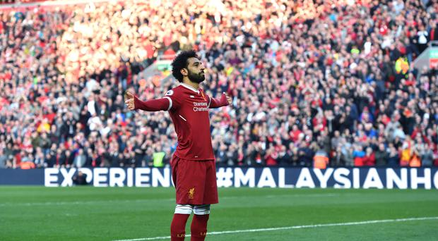 Mohamed Salah was on target once more (Anthony Devlin/PA)
